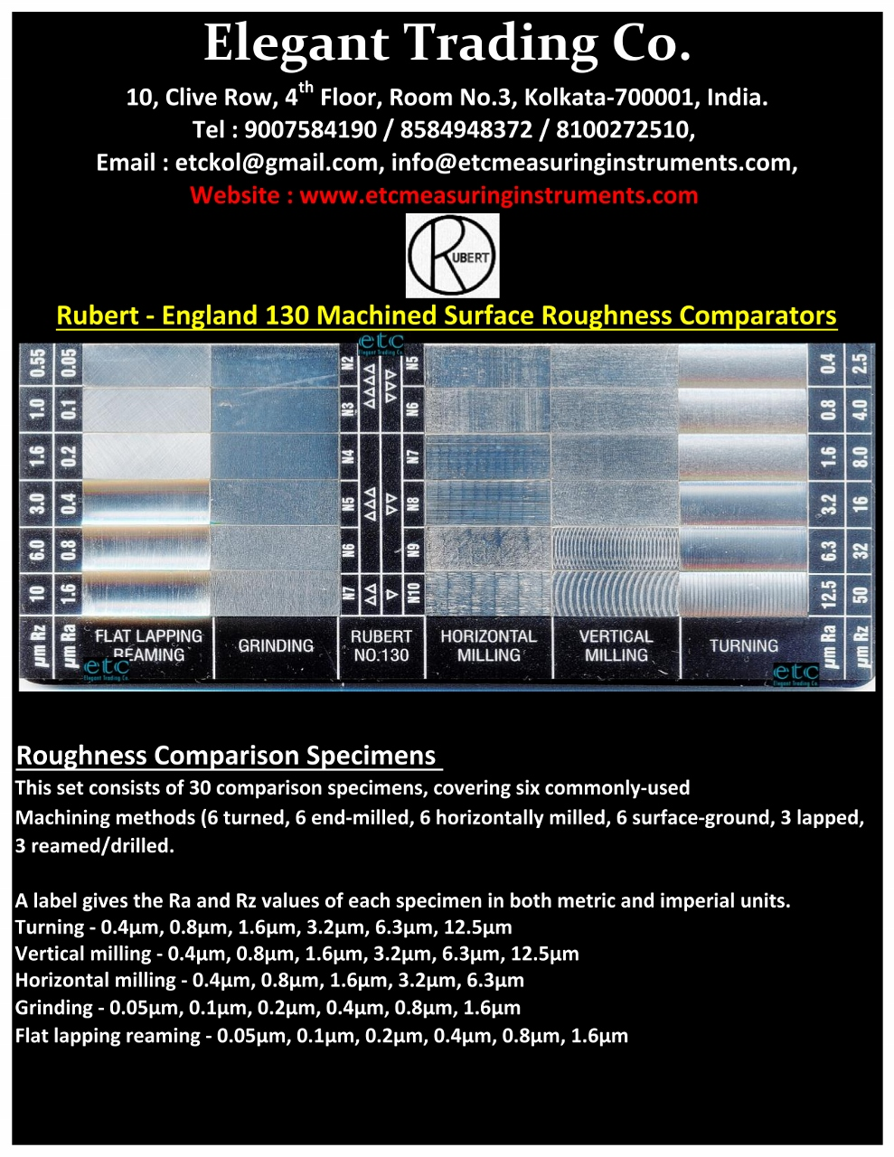 Rubert 130 Machined Surface Roughness Comparator_0001