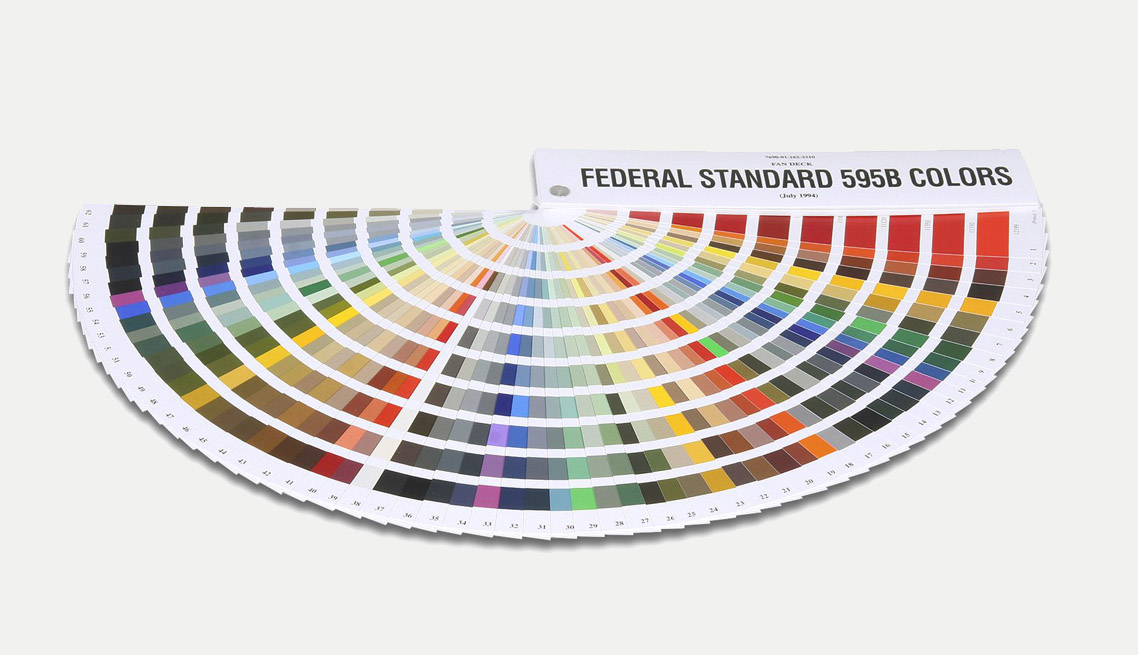 Federal Standard Color Guide Testing Inspection