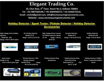 Cross Country Pipeline Coating Inspection Instruments